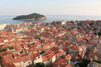 Vista dall'alto della città di Dubrovnik