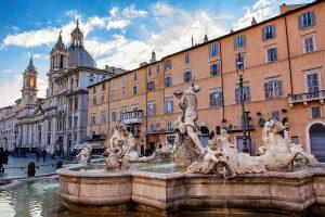 Una fontana di Piazza Navona, ecco cosa vedere a Roma in tre giorni