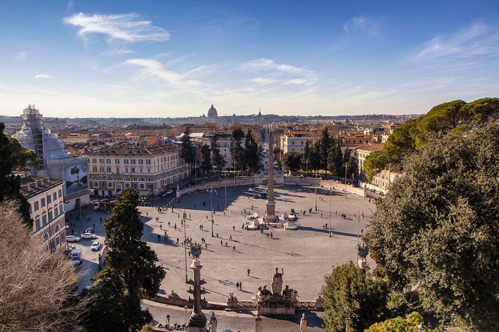 Piazza del Popolo ripresa dal Pincio, ecco cosa vedere a Roma in tre giorni