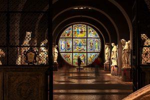 Foto dell'occhio absidale della cattedrale all'interno del Museo dell'Opera, ecco casa vedere a Siena in un giorno