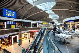 interno aeroporto di Roma Fiumicino, nuovo terminal E
