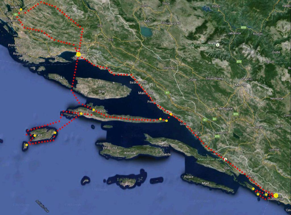 Itinerario su cosa visitare in croazia