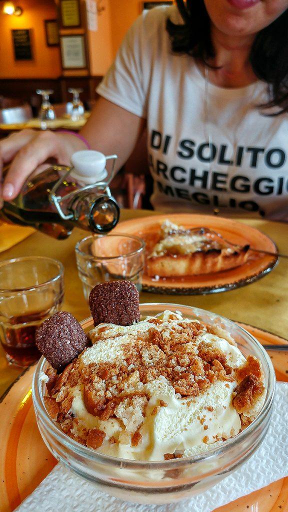 Il dessert del ristorante Vinellie Fornelli, uno dei locali di Roma dove mangiare e bere con gusto