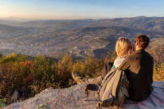 Panorama della città di Sarajevo ripreso durante il mio viaggio in Bosnia