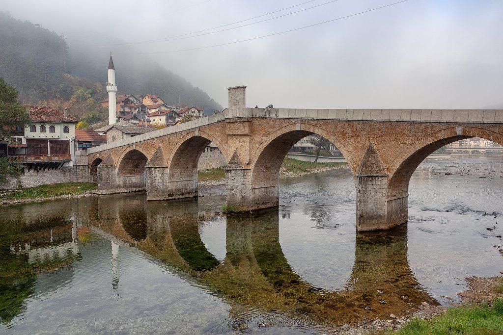 Il piccolo villaggio di Konjic visto durante il mio viaggio in Bosnia