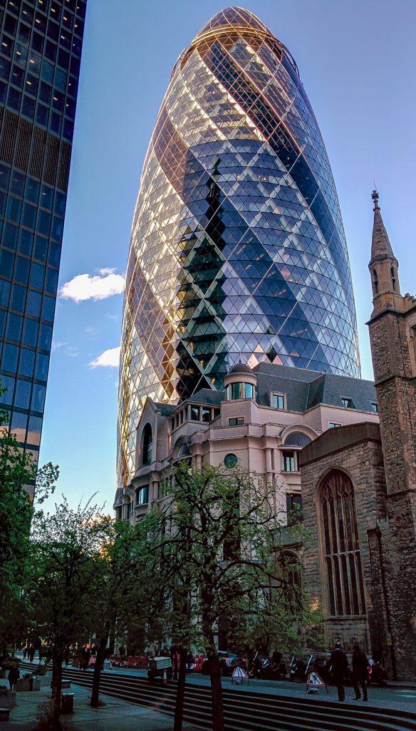 City of London scorcio del quartiere finanziario visto nei tre giorni a Londra