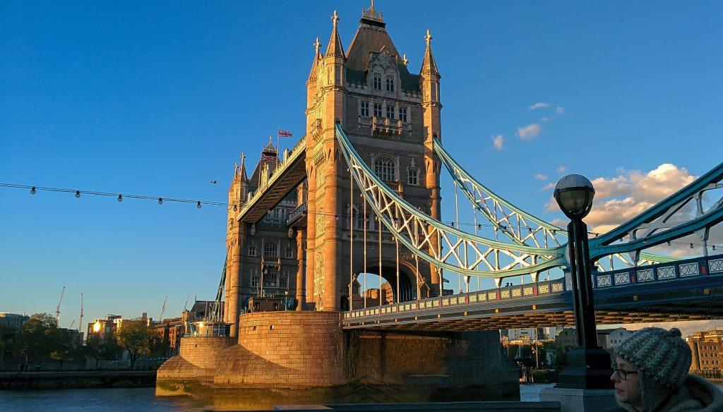 il ponte di Tower Bridge visto durante i tre giorni a Londra